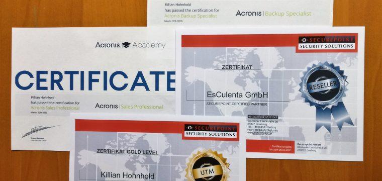 Sicherheit – Datenschutz – Zertifikate